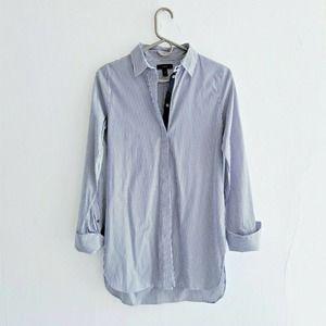 J.Crew Button Up Shirtdress in Navy Stripe Size M